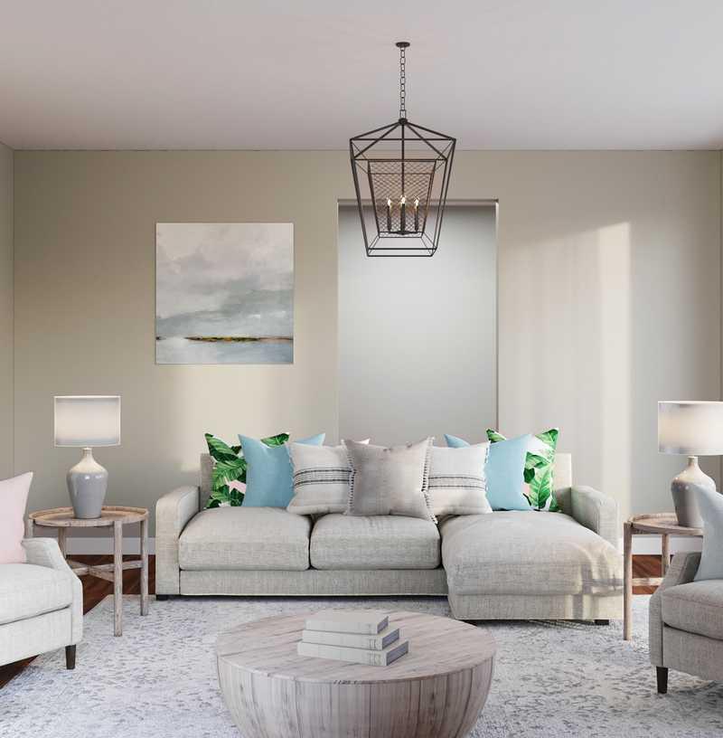 Bohemian, Farmhouse Living Room Design by Havenly Interior Designer Shirley