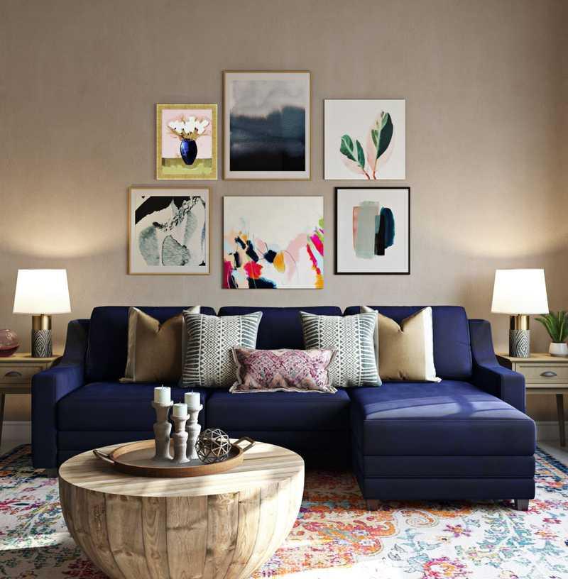 Contemporary, Global Living Room Design by Havenly Interior Designer Ashley