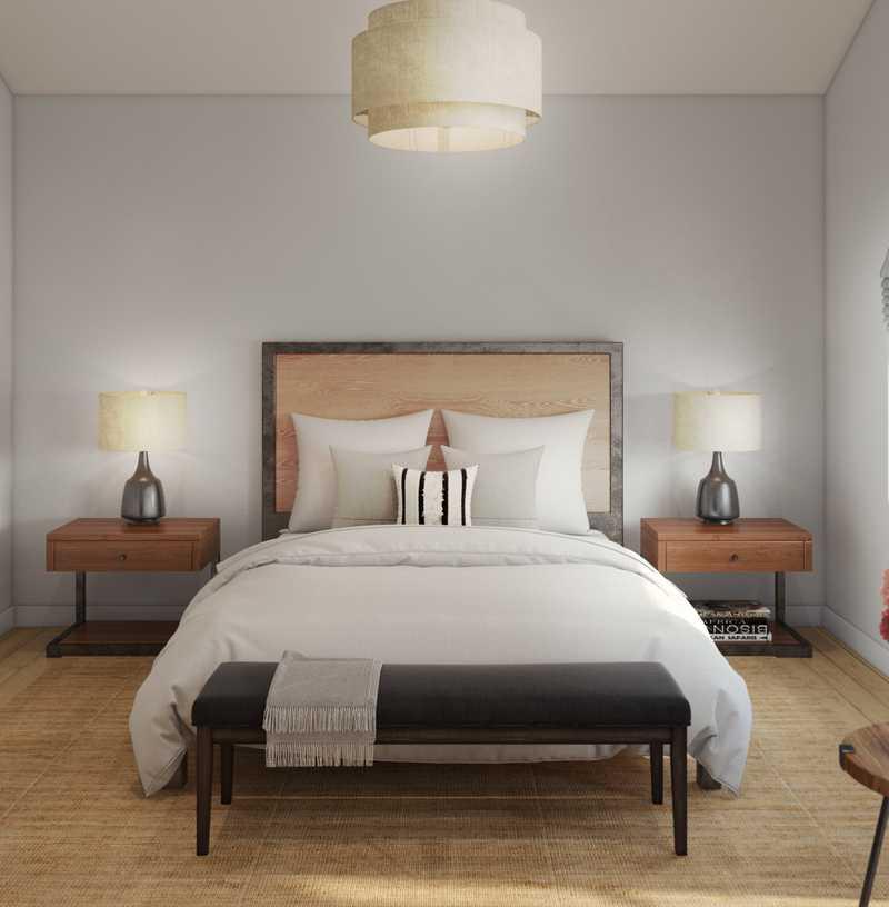 Contemporary, Rustic Bedroom Design by Havenly Interior Designer Brad