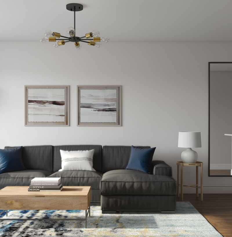 Contemporary, Midcentury Modern Living Room Design by Havenly Interior Designer Elizabeth