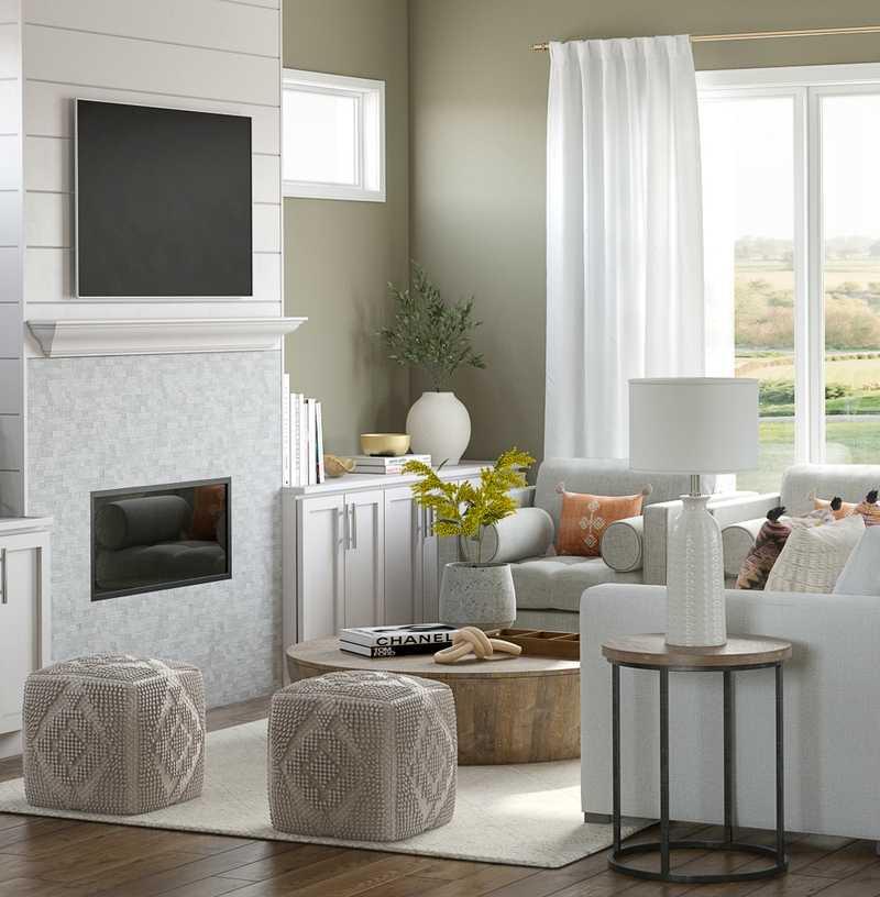 Contemporary, Bohemian Living Room Design by Havenly Interior Designer Laura