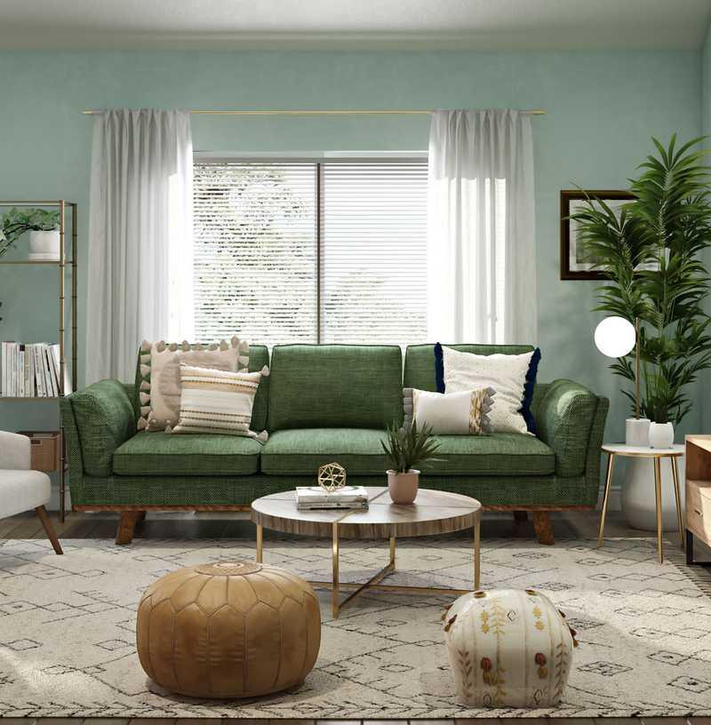 Bohemian, Scandinavian Living Room Design by Havenly Interior Designer Maria