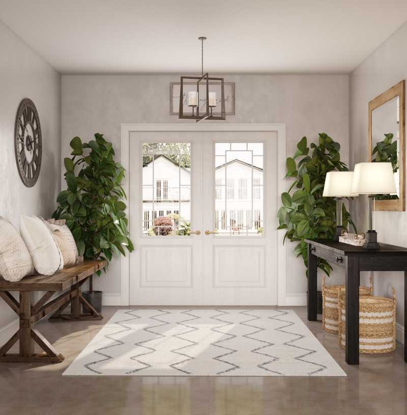 Eclectic, Bohemian, Traditional, Farmhouse, Rustic Living Room Design by Havenly Interior Designer Chelsea