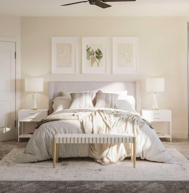 Modern, Bohemian, Glam, Scandinavian Bedroom Design by Havenly Interior Designer Hayley