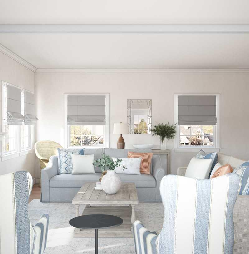 Contemporary, Classic, Bohemian, Coastal, Rustic Living Room Design by Havenly Interior Designer Lisa