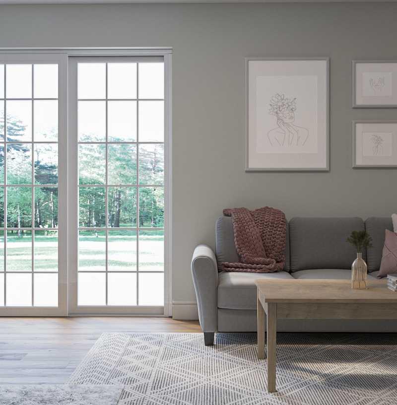 Modern, Bohemian, Glam Living Room Design by Havenly Interior Designer Brindee