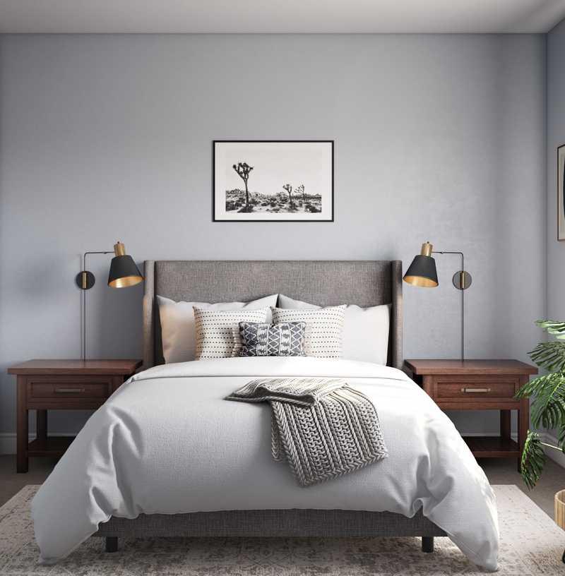 Bohemian, Scandinavian Bedroom Design by Havenly Interior Designer Elyse