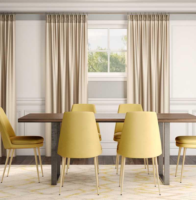 Modern, Glam, Minimal Dining Room Design by Havenly Interior Designer Stephanie