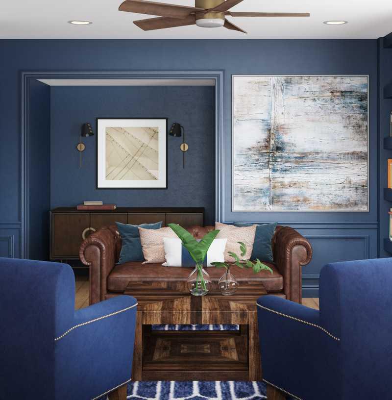 Contemporary, Modern, Transitional, Vintage, Global Office Design by Havenly Interior Designer Annie