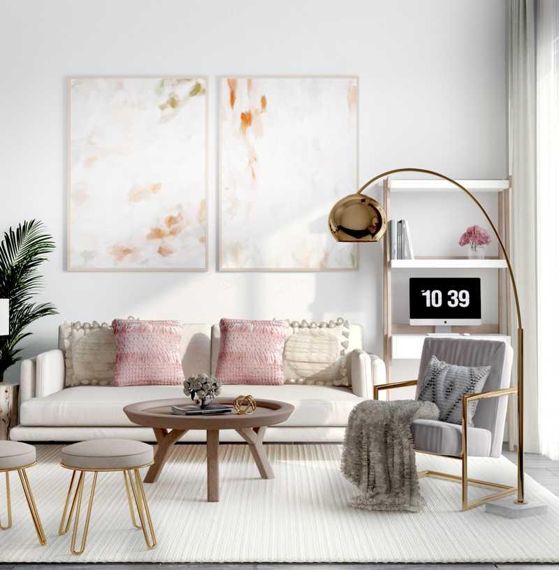 Modern Living Room Design by Havenly Interior Designer Karen