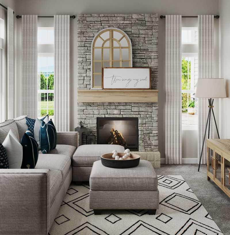 Modern, Farmhouse, Rustic Living Room Design by Havenly Interior Designer Liliana