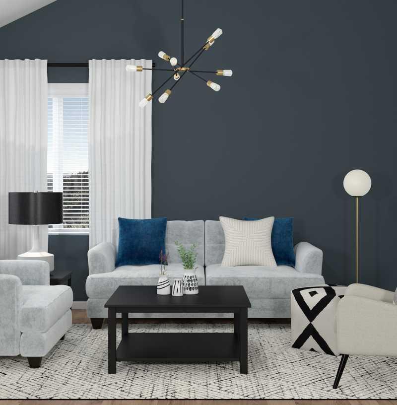 Bohemian, Scandinavian Living Room Design by Havenly Interior Designer Isabella