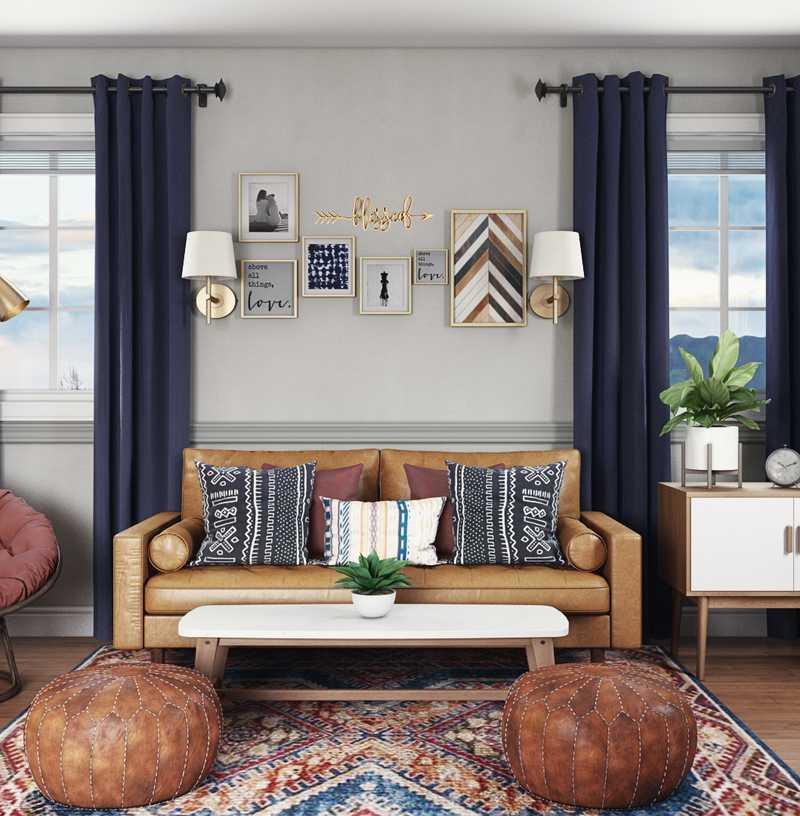 Bohemian, Glam, Midcentury Modern Other Design by Havenly Interior Designer Danielle