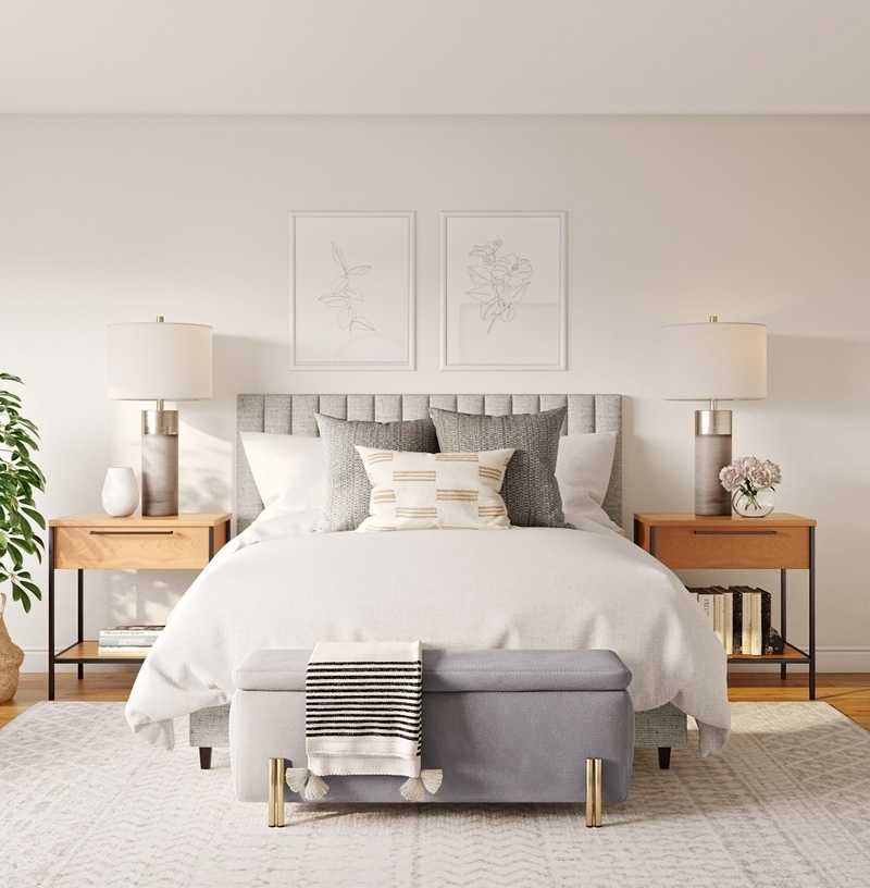 Modern, Bohemian, Farmhouse, Minimal Bedroom Design by Havenly Interior Designer Christine