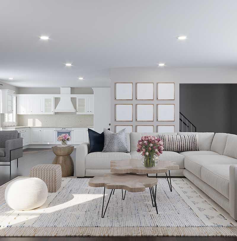 Contemporary, Classic Living Room Design by Havenly Interior Designer Dani