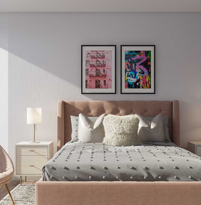 Contemporary, Glam, Preppy Bedroom Design by Havenly Interior Designer Erin