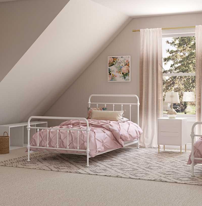 Bohemian, Glam, Scandinavian Bedroom Design by Havenly Interior Designer Kortney