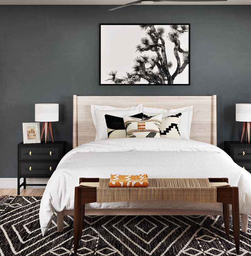 Midcentury Modern Bedroom Design by Havenly Interior Designer Emilee