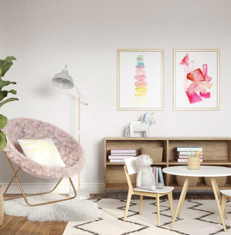 Midcentury Modern, Minimal, Preppy Bedroom Design by Havenly Interior Designer Amanda
