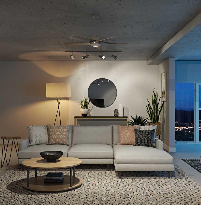 Bohemian Living Room Design by Havenly Interior Designer Rachel