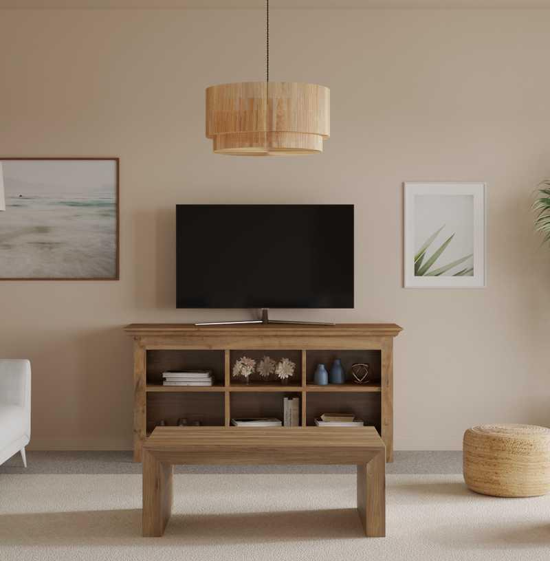 Bohemian, Coastal Living Room Design by Havenly Interior Designer Ellis