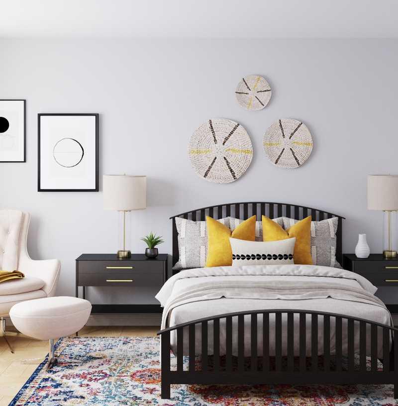 Contemporary, Eclectic, Bohemian, Midcentury Modern Bedroom Design by Havenly Interior Designer McKenzie