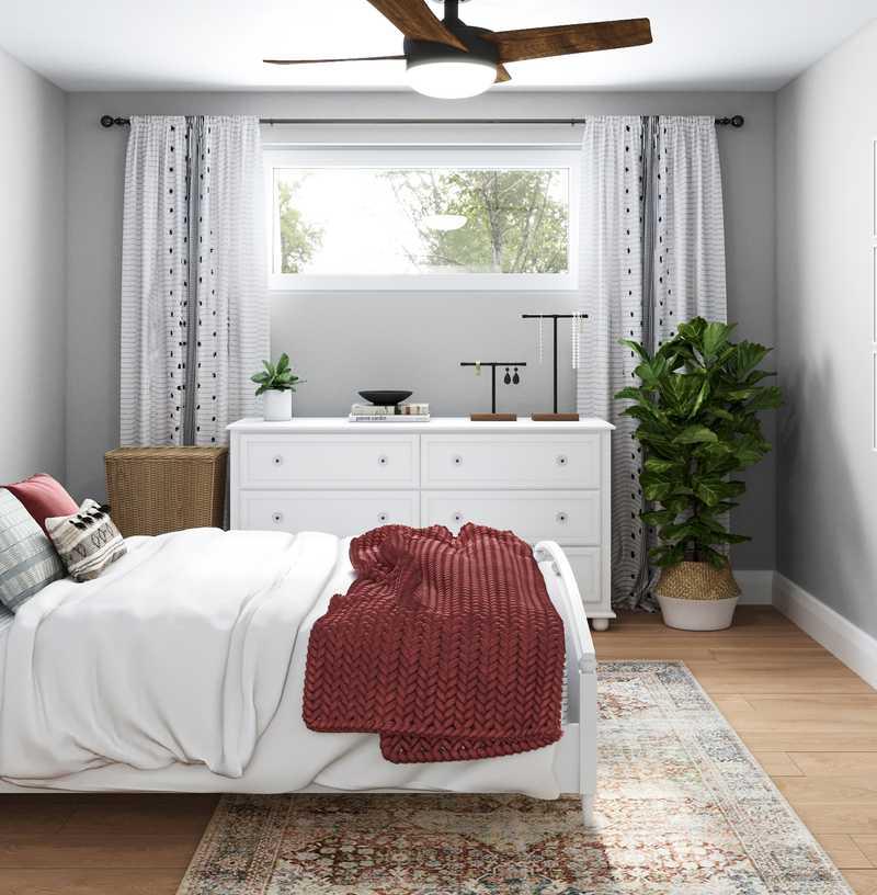 Bohemian, Midcentury Modern, Scandinavian Bedroom Design by Havenly Interior Designer Keri