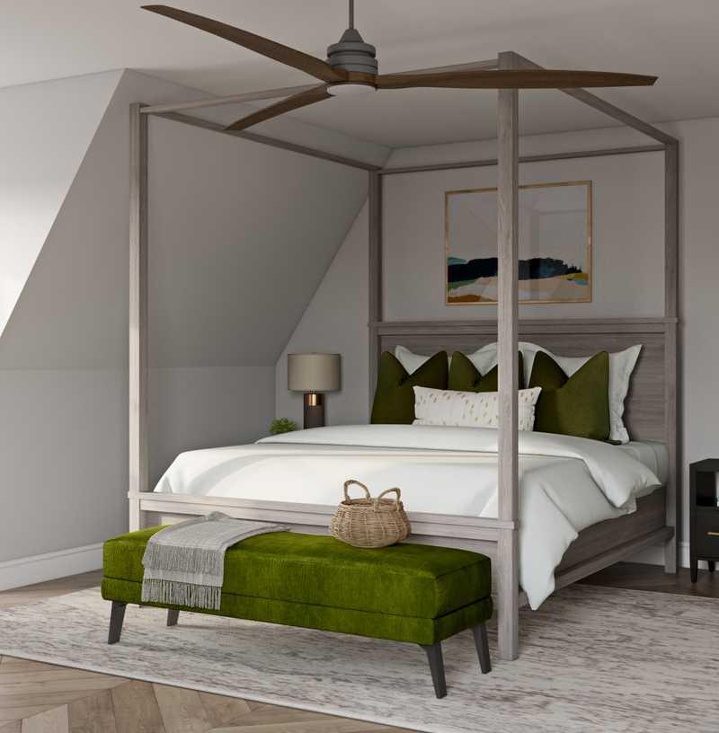 Contemporary, Classic, Coastal Bedroom Design by Havenly Interior Designer Regina