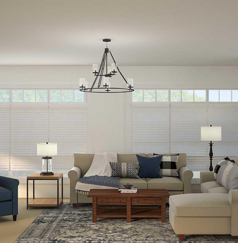 Transitional Living Room Design by Havenly Interior Designer Lyndsi