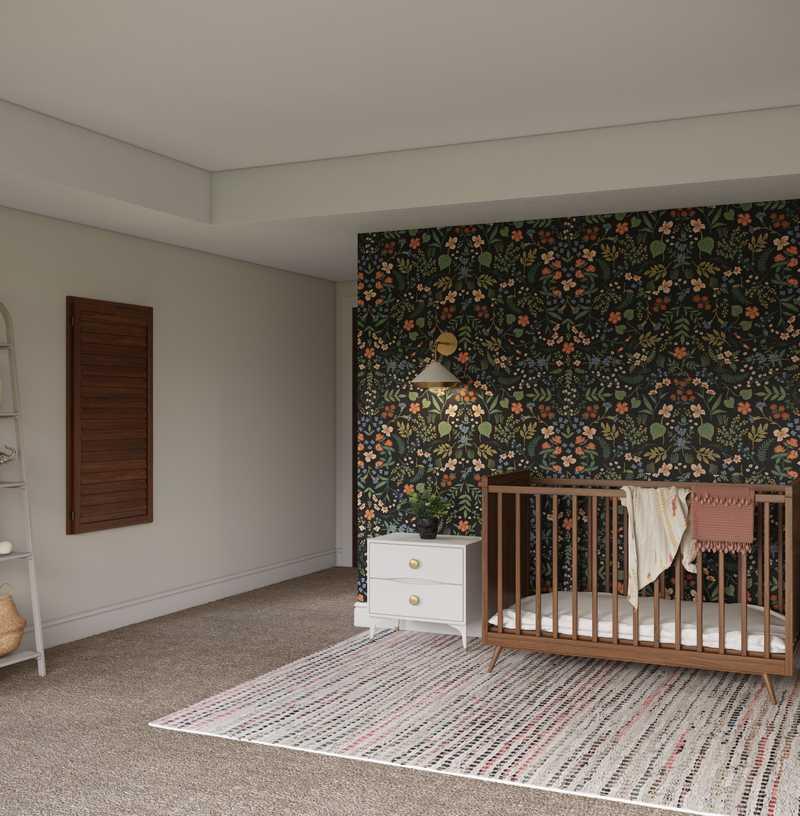 Contemporary, Modern, Bohemian Nursery Design by Havenly Interior Designer Rebecca