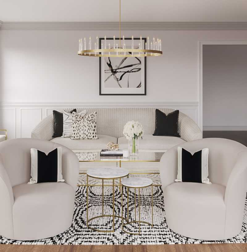 Modern, Glam, Transitional Living Room Design by Havenly Interior Designer Andrea