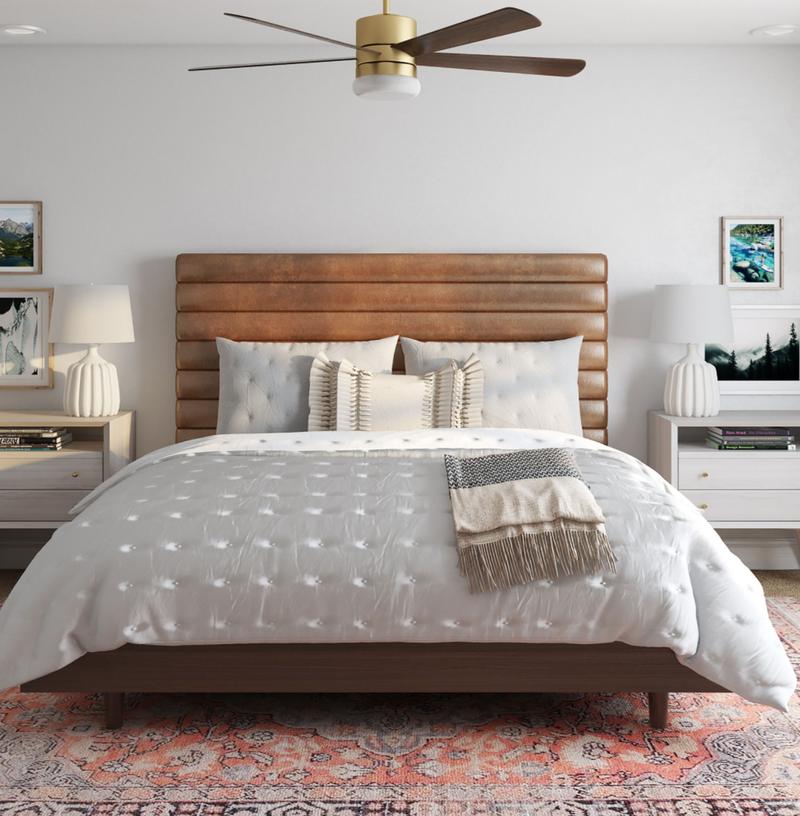 Modern, Bohemian, Midcentury Modern Bedroom Design by Havenly Interior Designer Jennifer