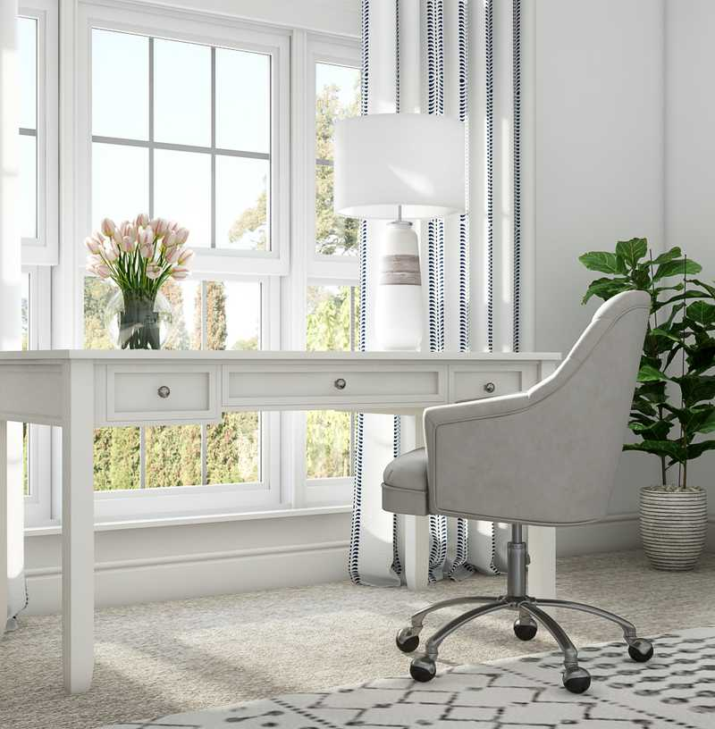 Classic, Coastal, Transitional Office Design by Havenly Interior Designer Drew