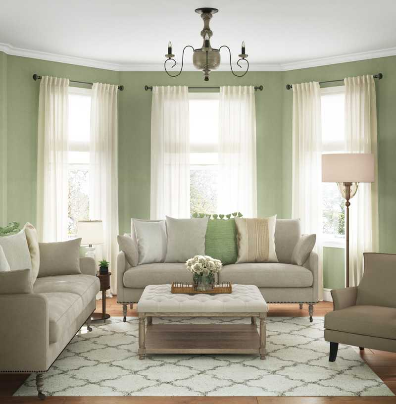 Classic, Farmhouse Living Room Design by Havenly Interior Designer Merna