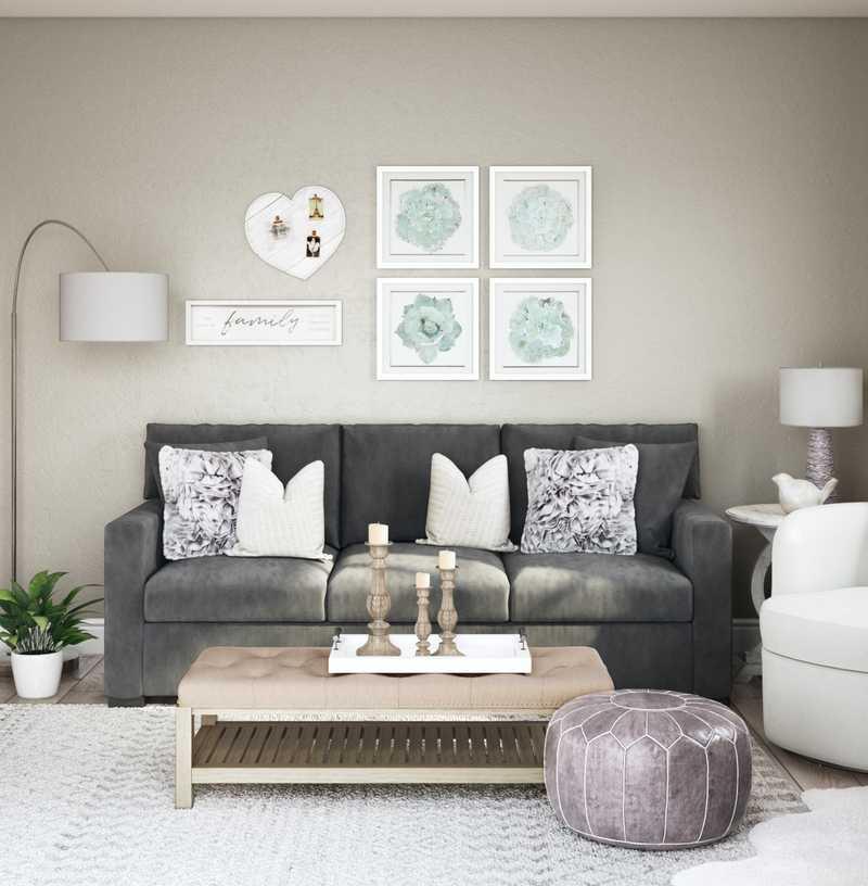 Eclectic Living Room Design by Havenly Interior Designer Sam