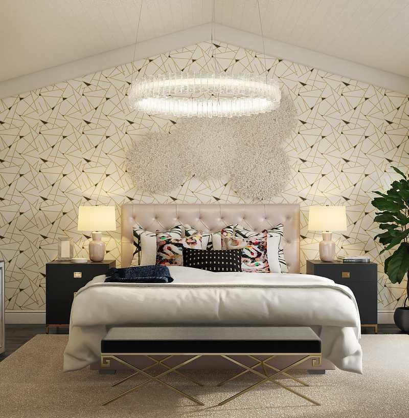 Contemporary, Modern, Glam, Preppy Bedroom Design by Havenly Interior Designer Annie