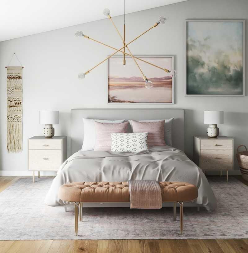 Modern, Eclectic, Bohemian Bedroom Design by Havenly Interior Designer Nicole