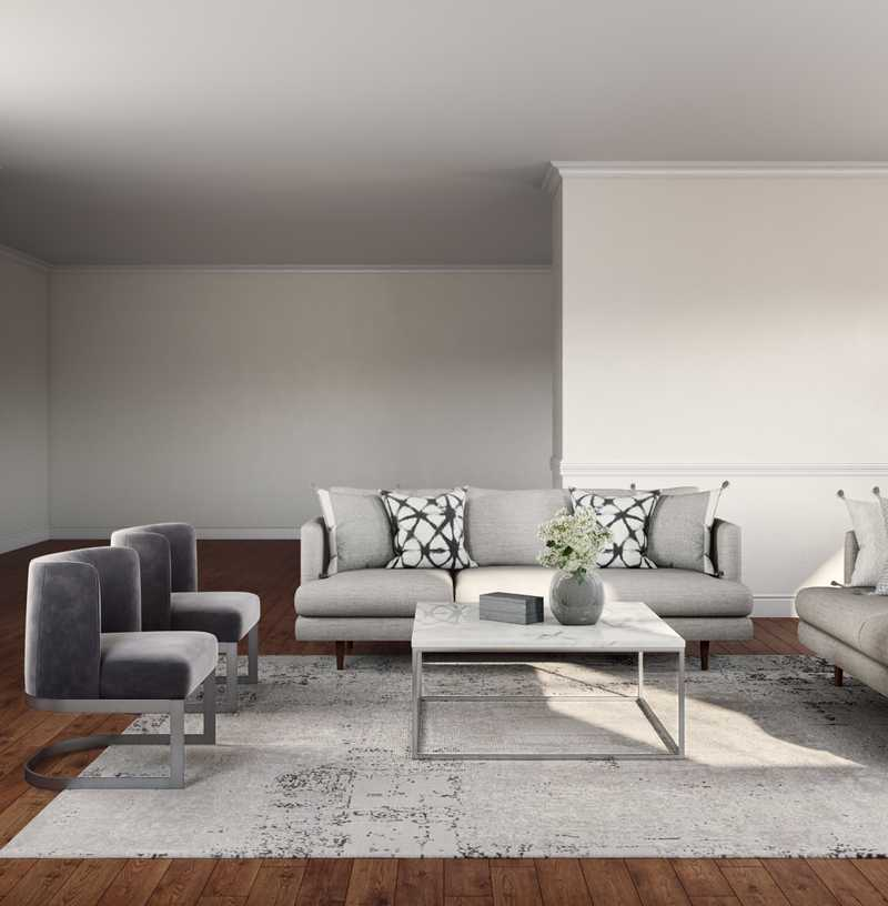 Modern, Glam Living Room Design by Havenly Interior Designer Lamia