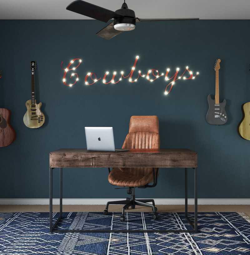 Southwest Inspired Office Design by Havenly Interior Designer Elyse