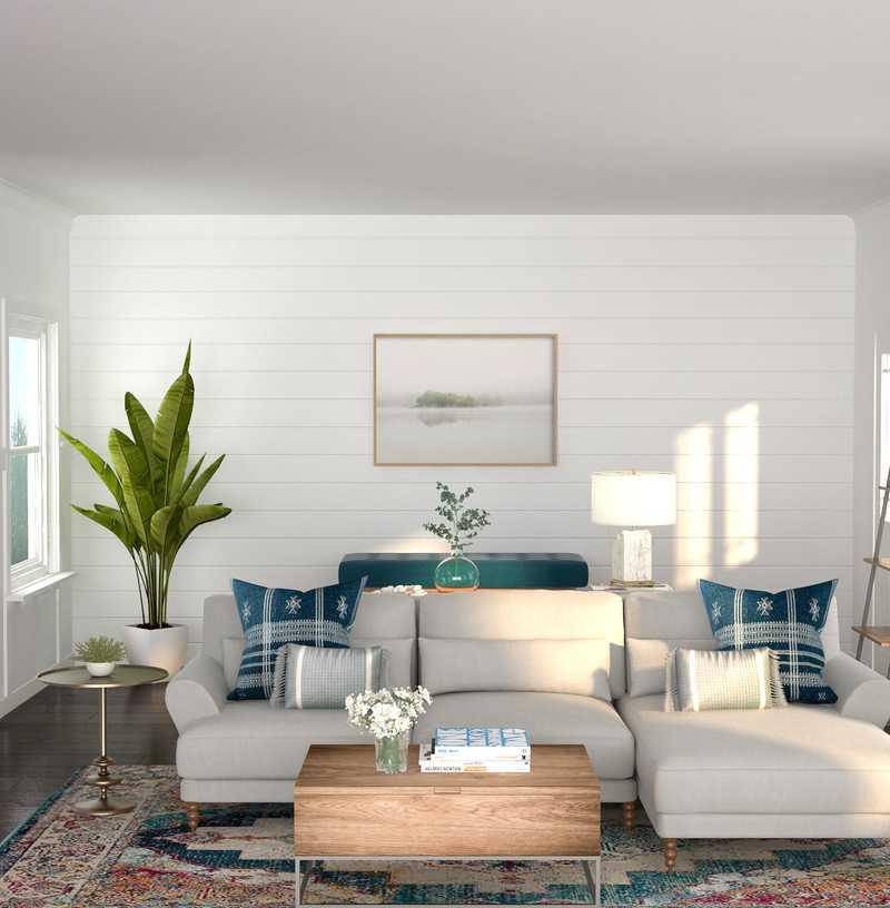 Midcentury Modern Living Room Design by Havenly Interior Designer Kayla