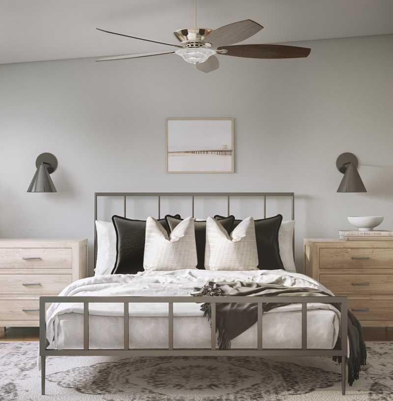 Coastal, Scandinavian Bedroom Design by Havenly Interior Designer Nicole