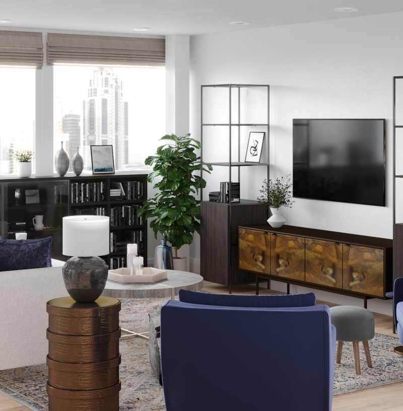 Contemporary, Midcentury Modern Living Room Design by Havenly Interior Designer Patrice