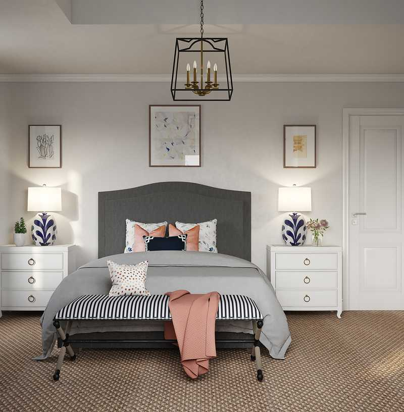 Classic, Glam Bedroom Design by Havenly Interior Designer Chelsea