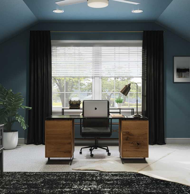 Modern, Industrial Office Design by Havenly Interior Designer Elyse