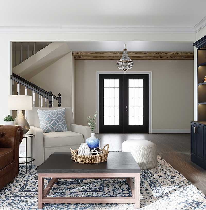 Modern, Classic, Rustic Living Room Design by Havenly Interior Designer Nicole