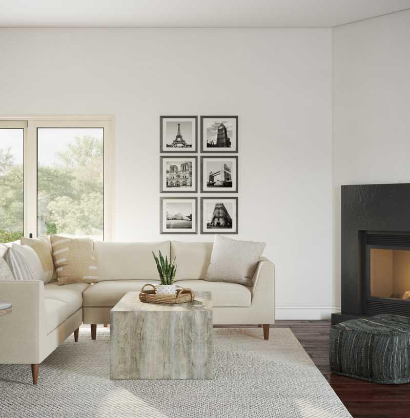 Transitional Living Room Design by Havenly Interior Designer Glynis