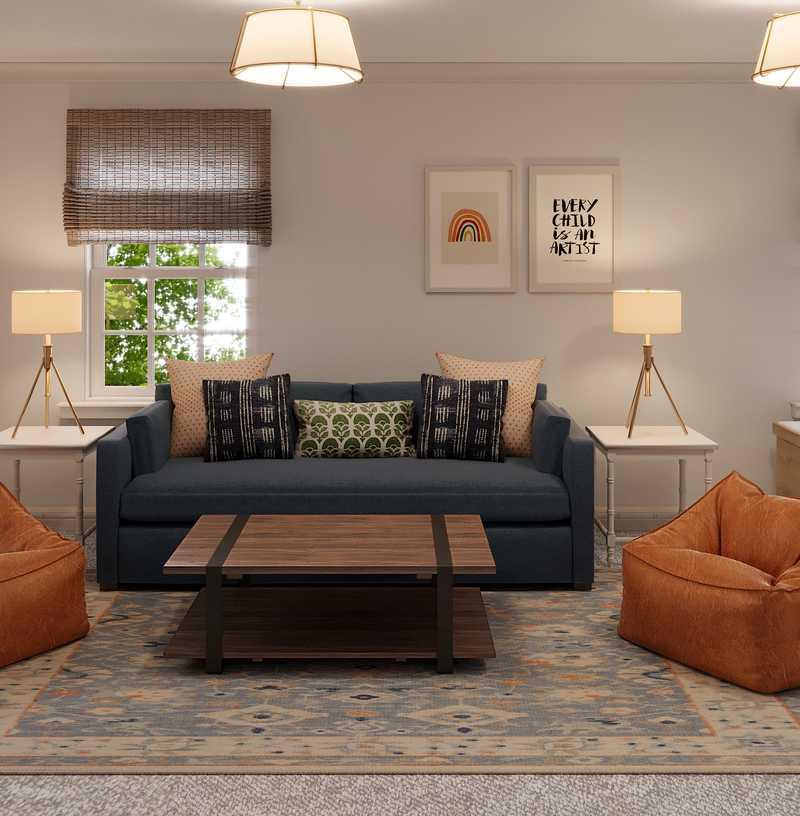 Classic Living Room Design by Havenly Interior Designer Brooke