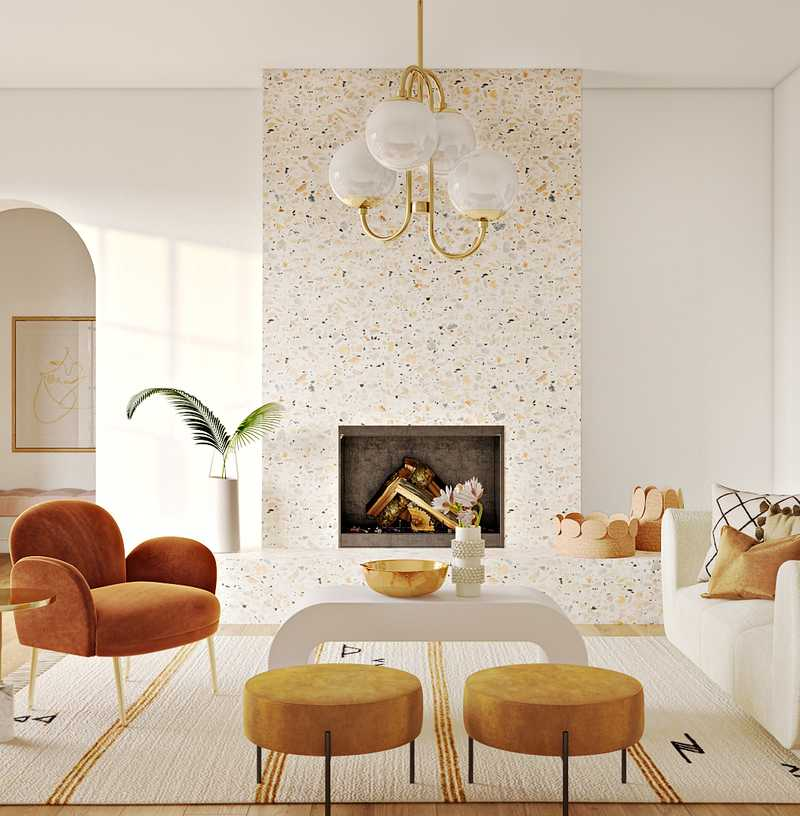 Modern, Bohemian, Glam, Midcentury Modern  Design by Havenly Interior Designer Shelby