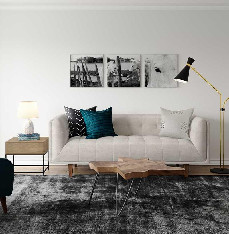 Midcentury Modern Living Room Design by Havenly Interior Designer Sara