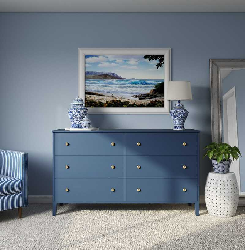 Modern, Coastal Bedroom Design by Havenly Interior Designer Heather
